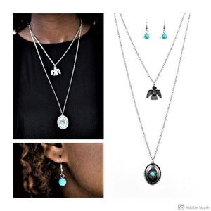 Desert Eagle - Turquoise Thunderbird Necklace Set